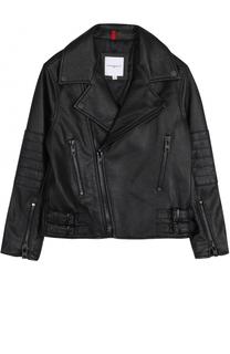 Кожаная куртка с косой молнией Givenchy