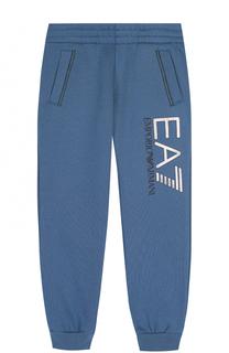 Спортивные джоггеры из хлопка с логотипом бренда Ea 7