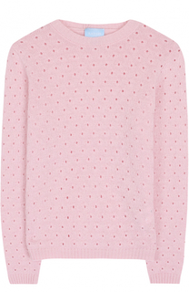 Вязаный пуловер с перфорацией Lanvin