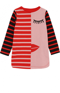 Хлопковое мини-платье с принтом Stella McCartney