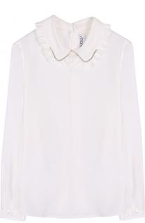 Блуза с оборками и стразами Simonetta