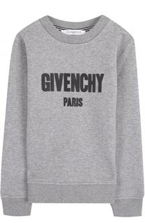 Хлопковый свитшот с логотипом бренда Givenchy