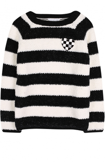 Вязаный свитер в полоску со значком Marc Jacobs