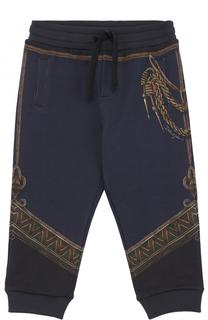 Хлопковый джоггеры с принтом Dolce & Gabbana