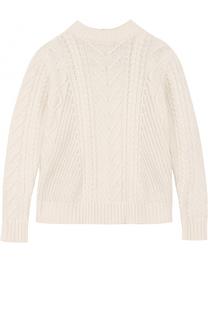 Вязаный свитер из хлопка и ангоры фактурной вязки Tartine Et Chocolat