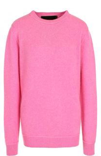 Однотонный кашемировый пуловер с круглым вырезом The Elder Statesman