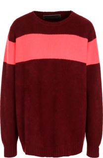 Кашемировый пуловер свободного кроя с круглым вырезом The Elder Statesman