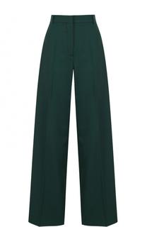 Шерстяные расклешенные брюки с контрастными лампасами Racil