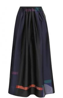 Юбка-миди с эластичным поясом и принтом Giorgio Armani