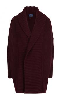 Шерстяной кардиган фактурной вязки Polo Ralph Lauren