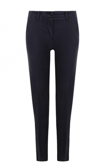 Хлопковые брюки прямого кроя со стрелками Armani Jeans