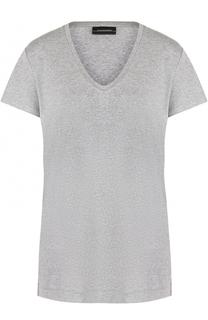 Однотонная футболка с круглым вырезом By Malene Birger