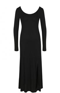 Приталенное платье-миди с круглым вырезом Polo Ralph Lauren