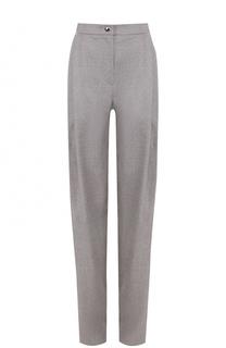 Шерстяная брюки прямого кроя с защипами Giorgio Armani