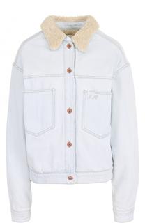 Джинсовая куртка с вышивкой на спинке и отложным воротником Isabel Marant Etoile