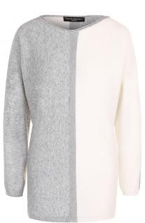 Пуловер прямого кроя с вырезом-лодочка Pietro Brunelli