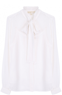 Полупрозрачная блуза с воротником аскот MICHAEL Michael Kors