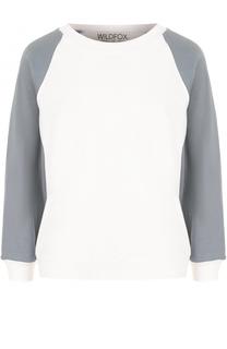 Хлопковый пуловер с круглым вырезом Wildfox