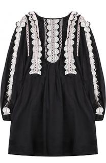 Платье свободного кроя с кружевной отделкой Isabel Marant