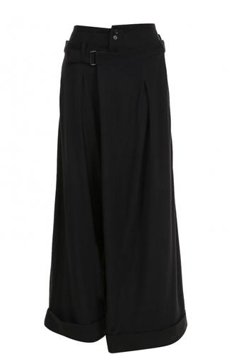 Укороченные широкие брюки из шерсти Yohji Yamamoto