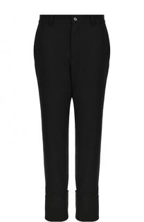 Однотонные шерстяные брюки с завышенной талией Yohji Yamamoto