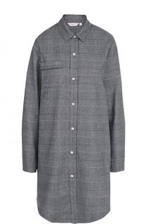 Хлопковая сорочка-рубашка в клетку Derek Rose