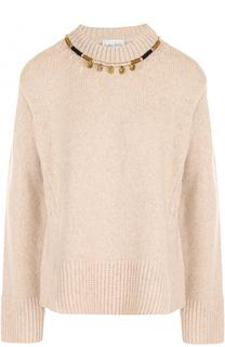 Шерстяной пуловер свободного кроя Forte_forte