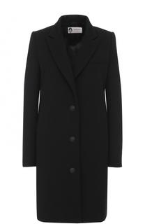 Пальто прямого кроя с контрастными пуговицами Lanvin