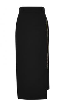 Шерстяная однотонная юбка-карандаш Haider Ackermann