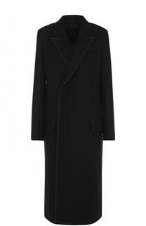 Однотонное шерстяное пальто прямого кроя Haider Ackermann