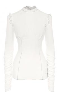 Облегающая блуза с драпировкой и оборками Dolce & Gabbana