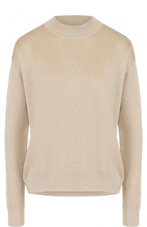 Пуловер с круглым вырезом и металлизированной отделкой BOSS