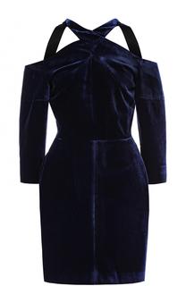 Приталенное бархатное мини-платье Roland Mouret