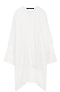 Платье-миди свободного кроя с длинным рукавом Isabel Benenato