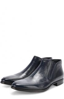 Кожаные ботинки без шнуровки с текстильными вставками Aldo Brue