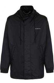 Куртка свободного кроя на молнии с капюшоном Balenciaga