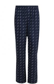 Хлопковые брюки свободного кроя с поясом на резинке Balenciaga