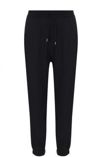Шерстяные брюки с поясом и манжетами на резинке MCQ