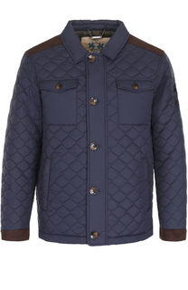 Стеганая куртка на пуговицах с отложным воротником La Martina