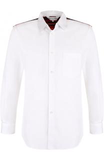 Хлопковая рубашка с контрастной отделкой Comme des Garcons