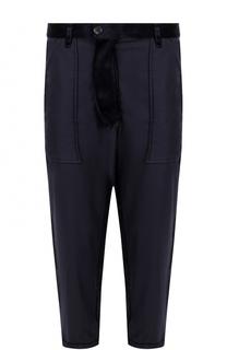 Укороченные хлопковые брюки с заниженной линией шага Comme des Garcons