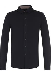 Приталенная рубашка из вискозы Armani Collezioni