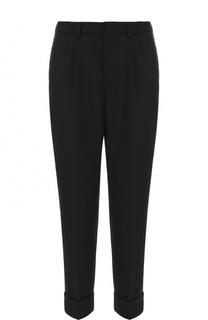 Укороченные брюки прямого кроя с заниженной линией шага Ami