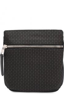 Текстильная сумка-планшет с внешним карманом на молнии Alexander McQueen
