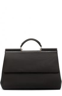 Текстильная дорожная сумка Sicily с плечевым ремнем Dolce & Gabbana
