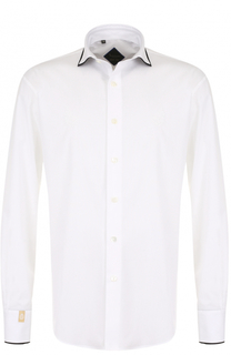 Хлопковая сорочка с контрастной отделкой Billionaire