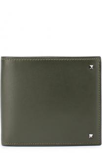 Кожаное портмоне Rockstud с отделениями для кредитных карт Valentino