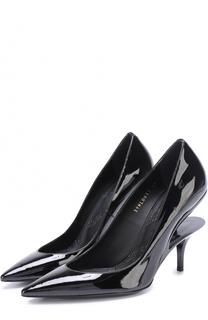Лаковые туфли на геометричном каблуке Maison Margiela