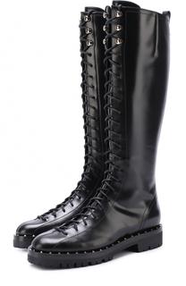 Кожаные сапоги Soul Rockstud на шнуровке Valentino