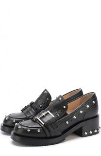 Кожаные ботинки с ремешками и заклепками No. 21